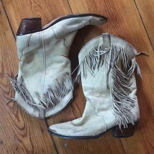 Shoes - Vintage Acme Fringe Cowboy Boots